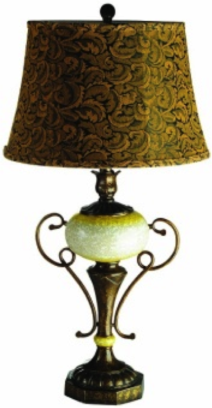 Elegant Designs Old World Table Lamp W Antique Brass Accents