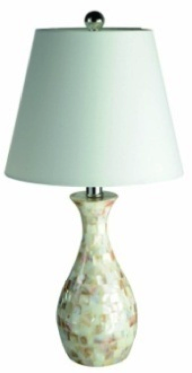 elegant designs trendy seashell tiled curved table lamp