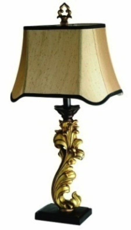 All the Rages:Elegant Designs Triton Table Lamp in Black and Gold,Lighting