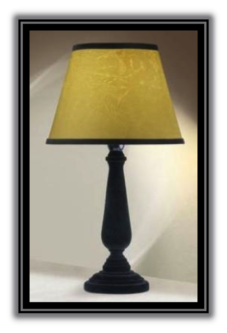 Simple Designs Basic Table Lamp W Trimmed Shade Black
