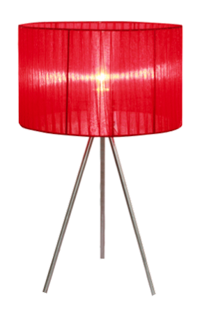 Simple Designs Silk Band Tripod Table Lamp