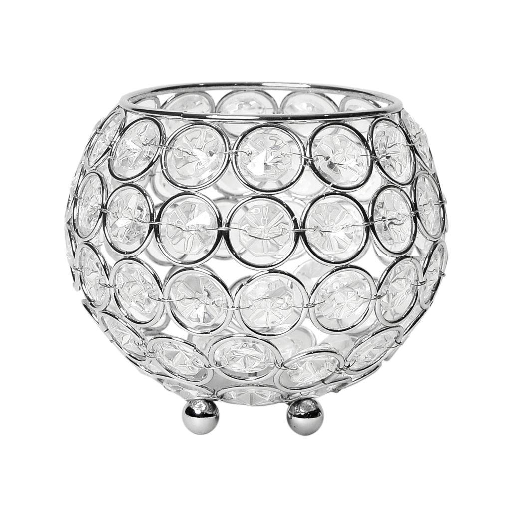 Chrome And Crystal Vase Floor Lamp