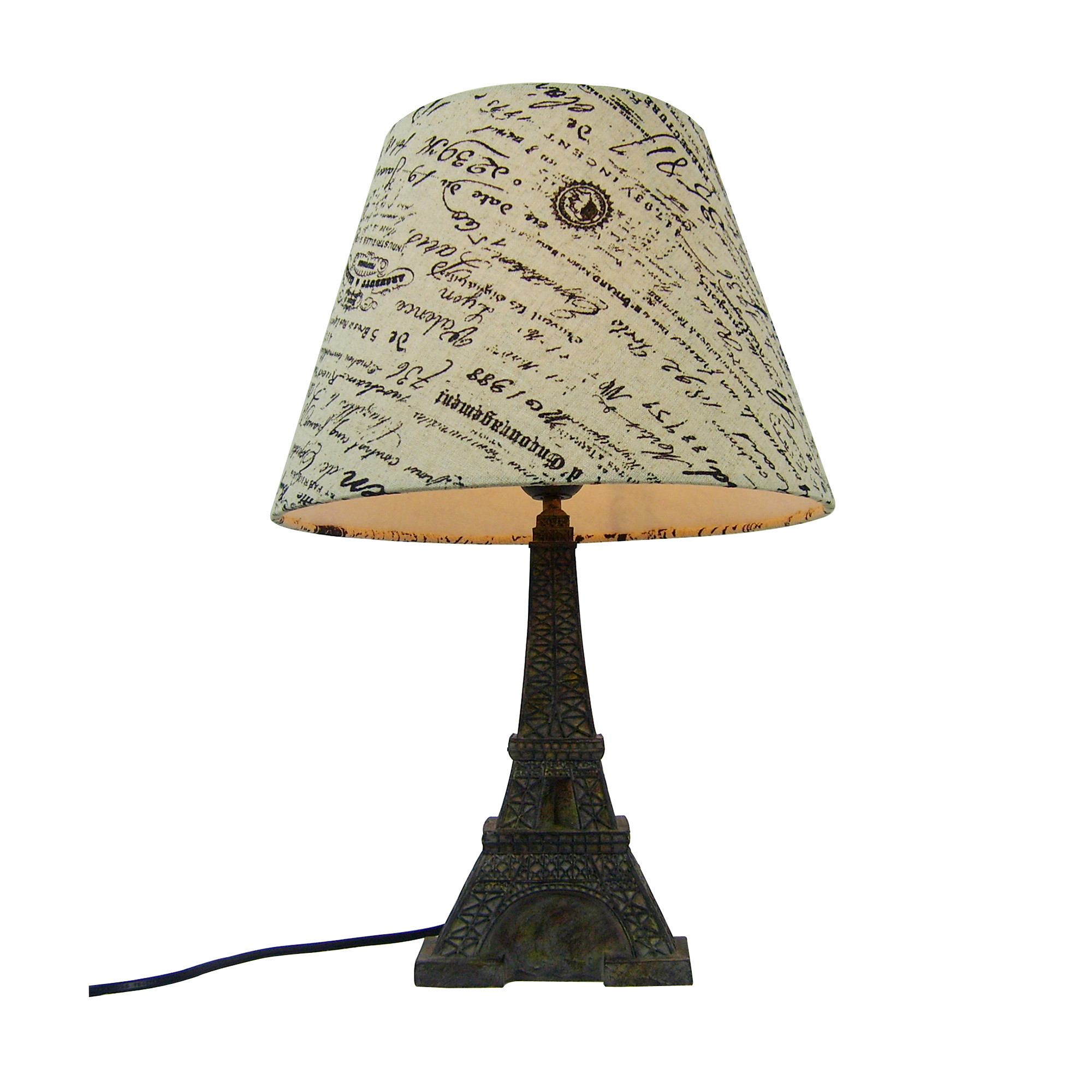 Simple Designs Eiffel Tower Paris Lamp With Shade All