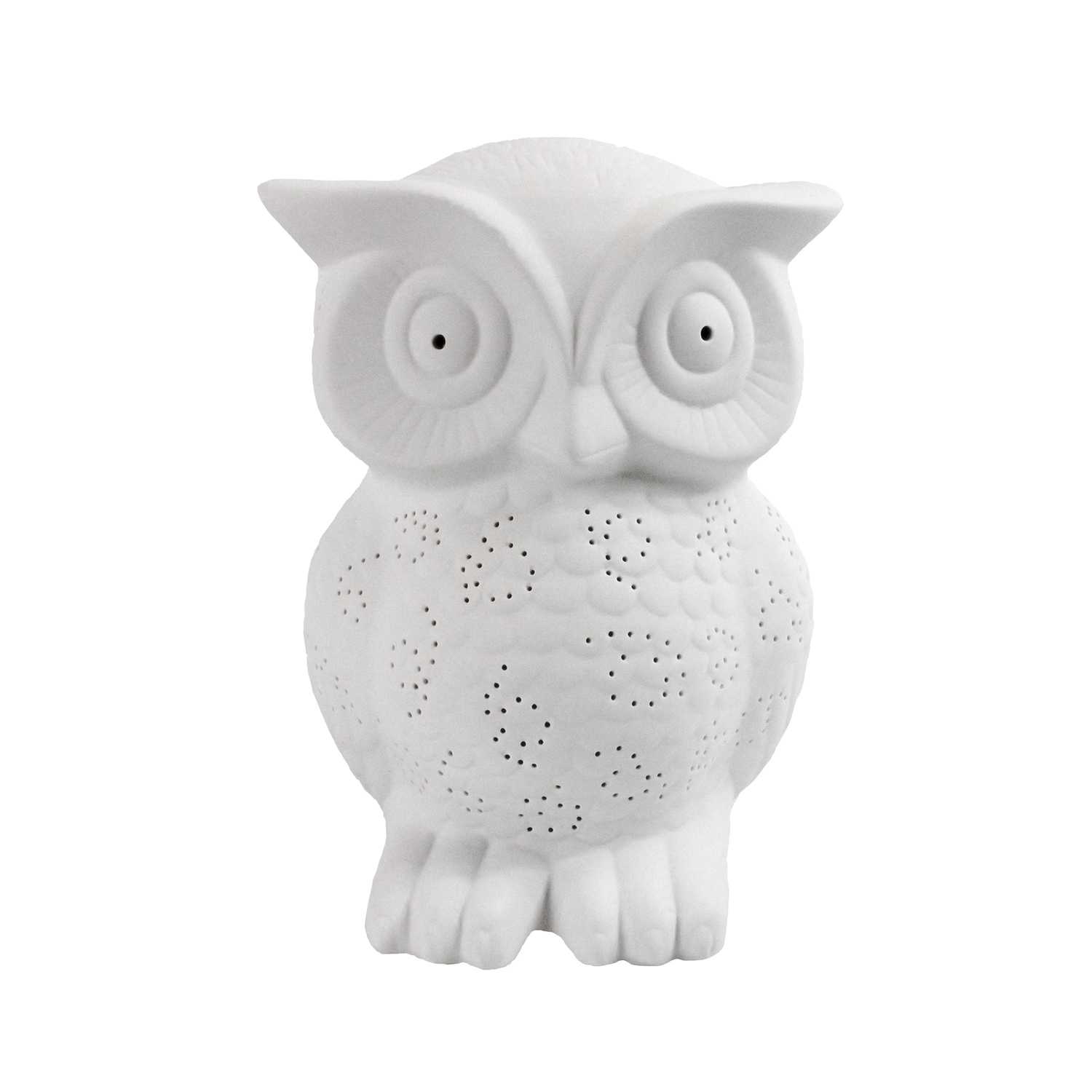 Simple Designs Porcelain Wise Owl Shaped Animal Light